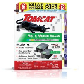 Tomcat Rat & Mouse Killer, Child & Dog Resistant, Disposable Station Value Pack - 2 Pre-filled Disposable Bait Stations