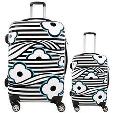 fūl Floral Wave Hard Case Spinner Luggage 2-Piece Set
