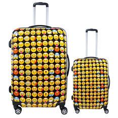 fūl Emoji Hard Case Spinner Luggage 2-Piece Set