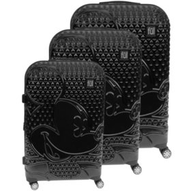 FUL © DISNEY Textured Mickey Hard Sided 3 Piece Luggage Set