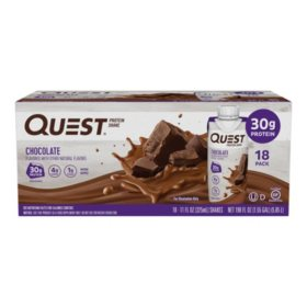 Quest Protein Shake Chocolate, 30g (18 ct.)