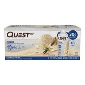 Quest Protein Shake, Vanilla (18 ct.)