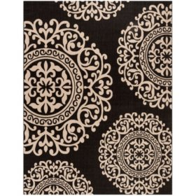 Safavieh Resort Collection Palermo Black/Ivory Area Rug 8' x 10'