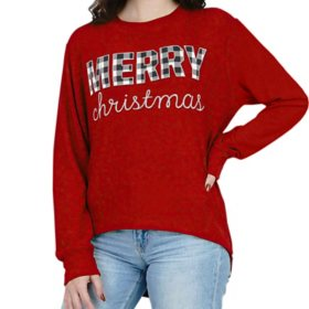 Royce Women's Holiday Cuddle Knit Top