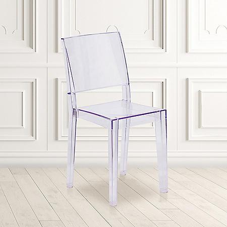 Phantom Series Transparent Stacking Side Chair