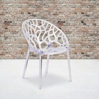 Specter Series Transparent Stacking Side Chair