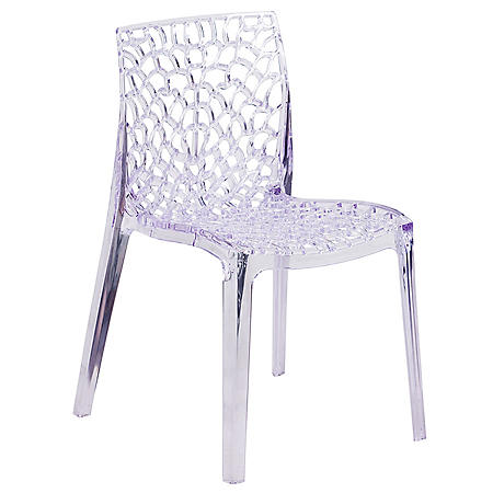 Vision Series Transparent Stacking Side Chair