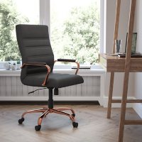 High Back LeatherSoft Executive Swivel Office Chair, Assorted Colors
