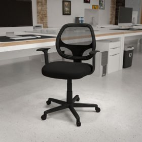 Flash Fundamentals Mid-Back Mesh Swivel Ergonomic Task Office Chair - BIFMA Certified, Assorted Colors
