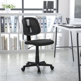 Flash Fundamentals Mid-Back Mesh Swivel Task Office Chair with Pivot Back - BIFMA Certified, Assorted Colors