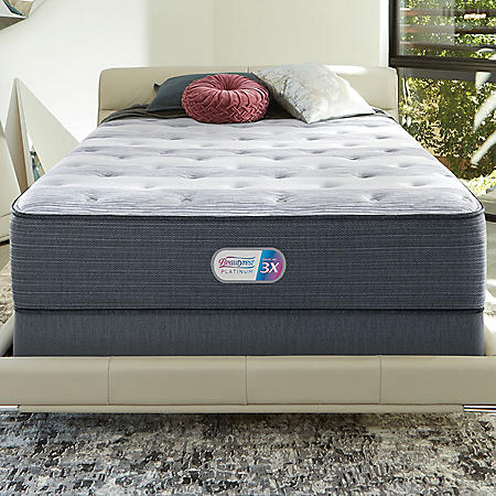 Beautyrest Platinum Haven Pines Luxury Firm Queen Mattress Set