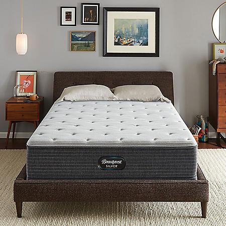 Beautyrest Silver Kayden California King Plush Pillow Top Mattress Set