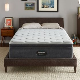 Beautyrest Silver Kayden Queen Plush Mattress Set