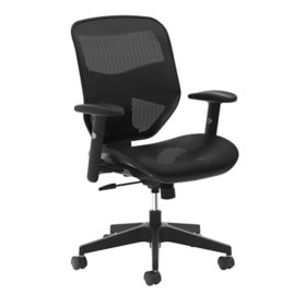 HON VL534 Mesh High-Back Task Chair, Supports up to 250 lbs. (Black)