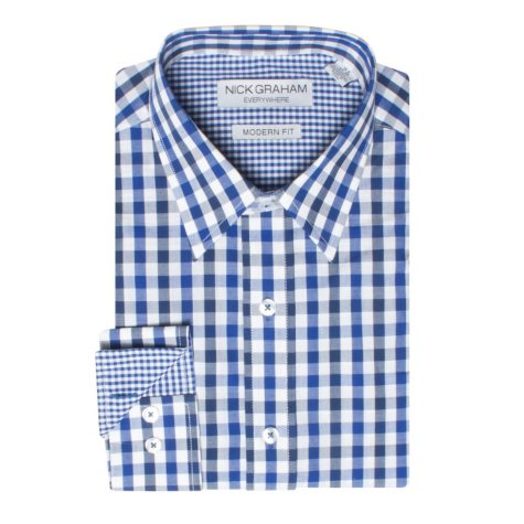 Nick Graham Fitted Woven Button Down Shirt