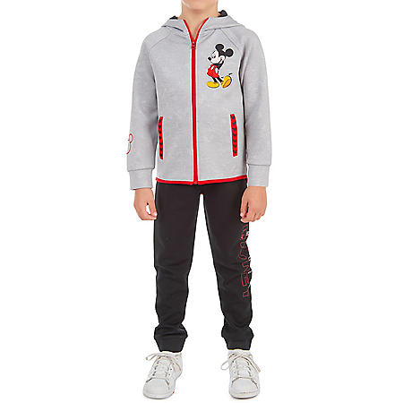 Mickey Mouse Zip-Up Hoodie and Jogger Active Set