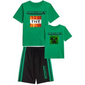 Licensed Boy's 2PC Reversible Sequin Tee and Short Set