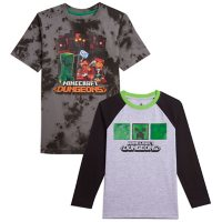 Licensed Boys' Minecraft 2pk T-Shirt