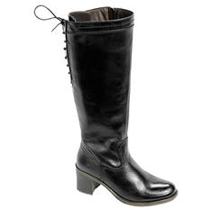 Women's Genuine Leather Lace-Up Riding Boot