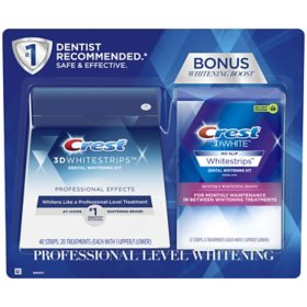 Crest 3D Whitestrips Teeth Whitening Kit, Professional Effects, 20 Treatments + Monthly Whitening Boost, 6 Treatments