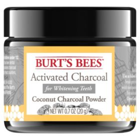 Burt's Bees Activated Coconut Charcoal Powder for Teeth Whitening (0.7oz.)