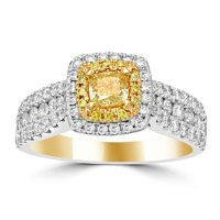 1.50 CT. T.W. Yellow and White Diamond Fashion Ring in 14K Yellow Gold