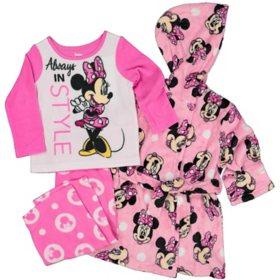 Licensed Girls 3-Piece Robe and Pajama Set