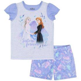 Licensed Girl's 2 Piece Pajama Set