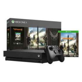 Xbox One X Tom Clancy's Division 2 Console and Game Bundle (Black)