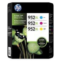 HP 952XL High Yield Original Ink Cartridges, Cyan/Magenta/Yellow, 3 Pack