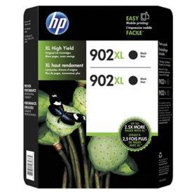 HP 902XL High-Yield Original Ink Cartridge, Black (2 pk.)