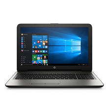 "HP 15-ba010nr 15.6"" HD Notebook, AMD E2-7110, 4GB RAM, 500GB HDD, AMD Radeon R2 Graphics, Windows 10, turbo silver"