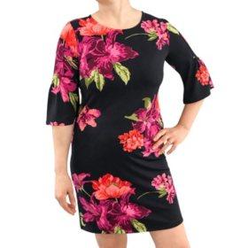 Aleaxandra+Oak Boat Neck Elbow Sleeve Dress