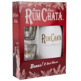 RumChata Rum Cream with Shot Glasses Gift Pack