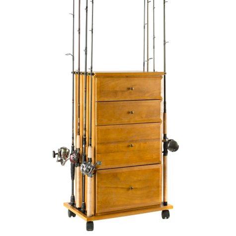 4-door Fishing Gear Oak Cabinet