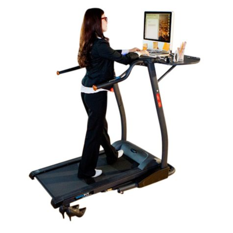 """Exerpeutic 2000 """"WorkFit"""" High Capacity Desk Station Treadmill with Pulse"""
