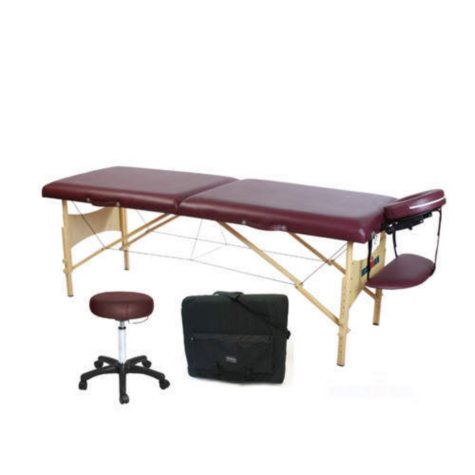 """Ironman Monarch Massage Table - 28"""" - Carry Case & Stool"""