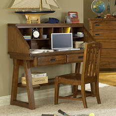 Pace Desk and Hutch, Spice Brown
