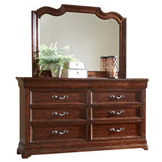 Saddle Creek 8-Drawer Dresser and Mirror