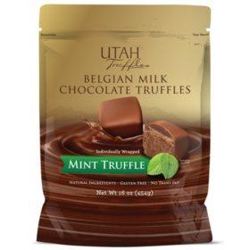 Utah Truffles Belgian Milk Chocolate Truffles Mint (16oz.)
