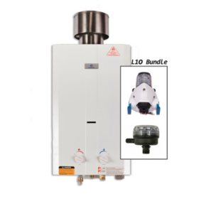 Eccotemp L10 Portable Outdoor Tankless Water Heater with EccoFlo Pump, Strainer and Shower Set