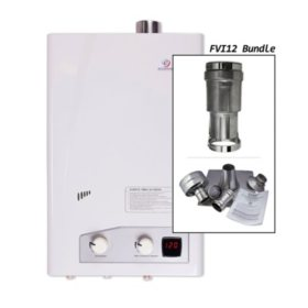 Eccotemp FVI12 3.5 GPM Indoor Liquid Propane Tankless Water Heater Vertical Bundle