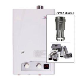Eccotemp FVI12 3.5 GPM Indoor Natural Gas Tankless Water Heater Horizontal Bundle
