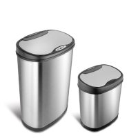 Deals on Nine Stars Combo Sensor Trash Can Stainless Steel