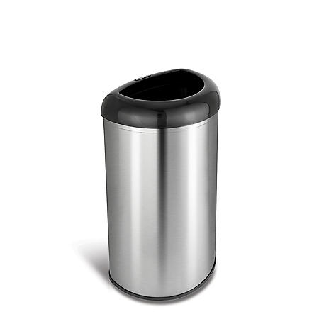 Nine Stars Open Top Trash Can, Stainless Steel (13.2 gal)