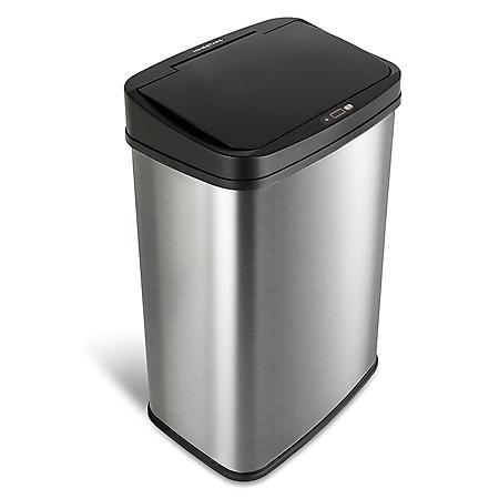 Nine Stars 13.2 Gallon Stainless Steel Motion Sensor Trash Can, Choose a Color