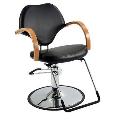 Wood-Armed Styling Salon Chair