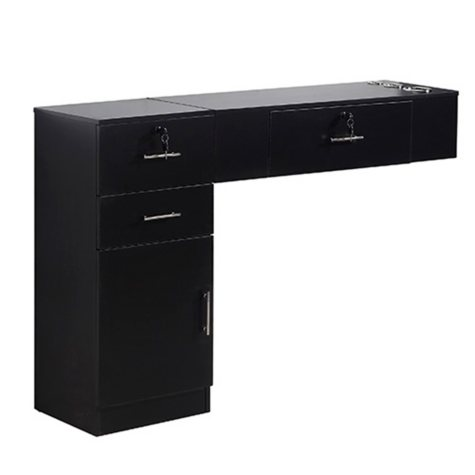 Keller KF1102_2-3 Wall Mounted Styling Station and Cabinet