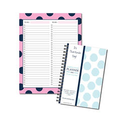 It's That Kinda Day Daily Planner and Double To-Do List Bundle (Assorted Colors)