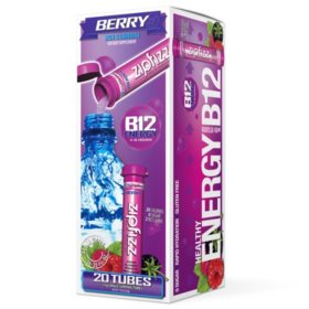 Zipfizz Energy Drink Mix, Berry (20 ct)
